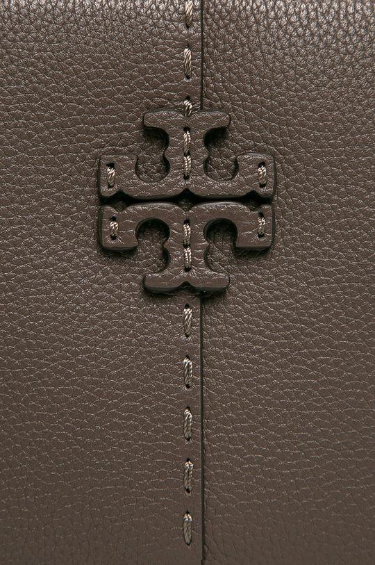 Tory Burch - Kožená kabelka šedá