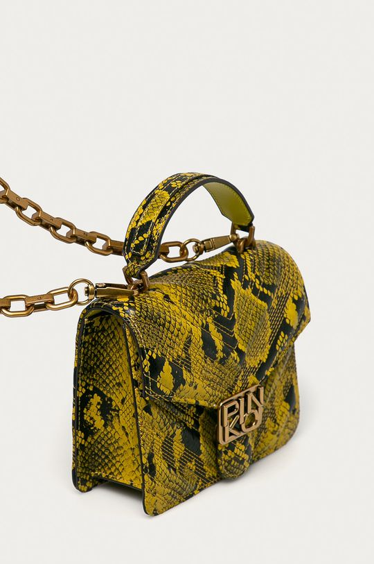 Pinko - Kožená kabelka žlutá