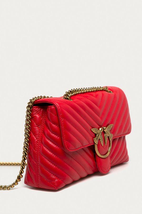Pinko - Kožená kabelka pastelová