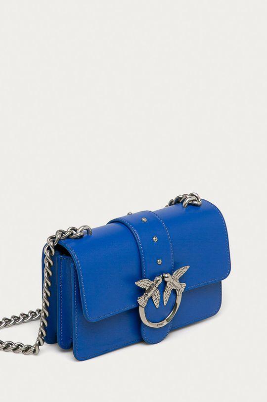 Pinko - Kožená kabelka modrá