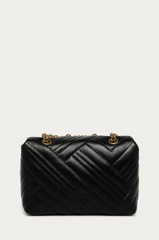 Pinko - Kožená kabelka čierna