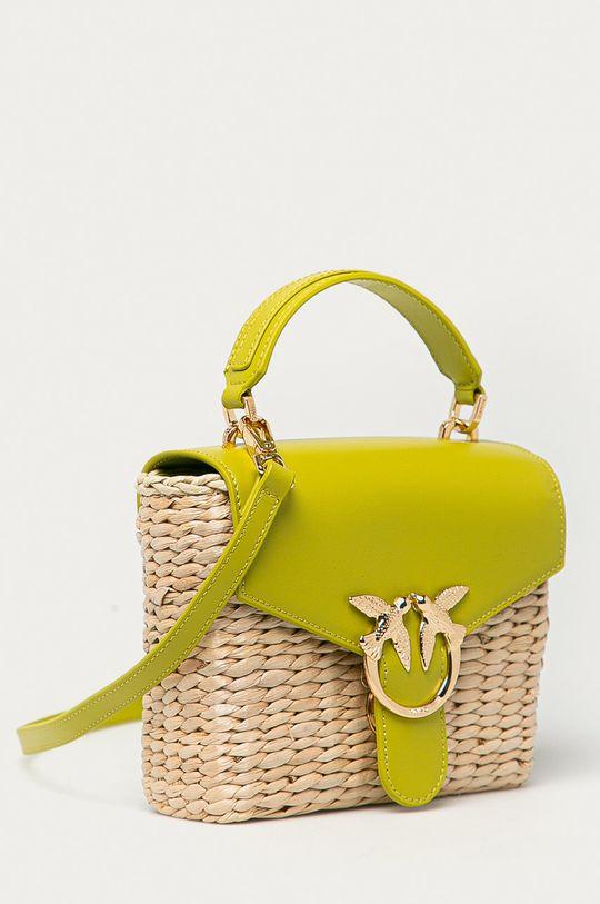 Pinko - Torebka żółto - zielony