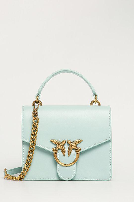 zelená Pinko - Kožená kabelka Dámský