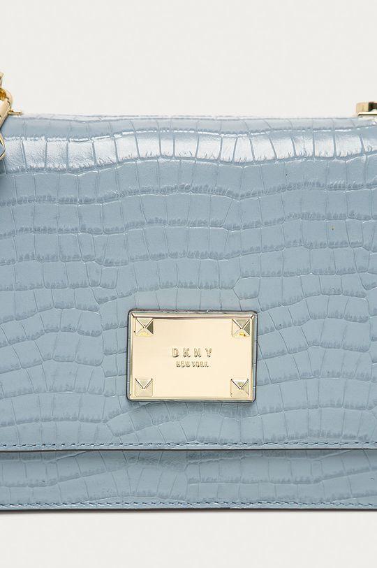 modrá Dkny - Kožená kabelka
