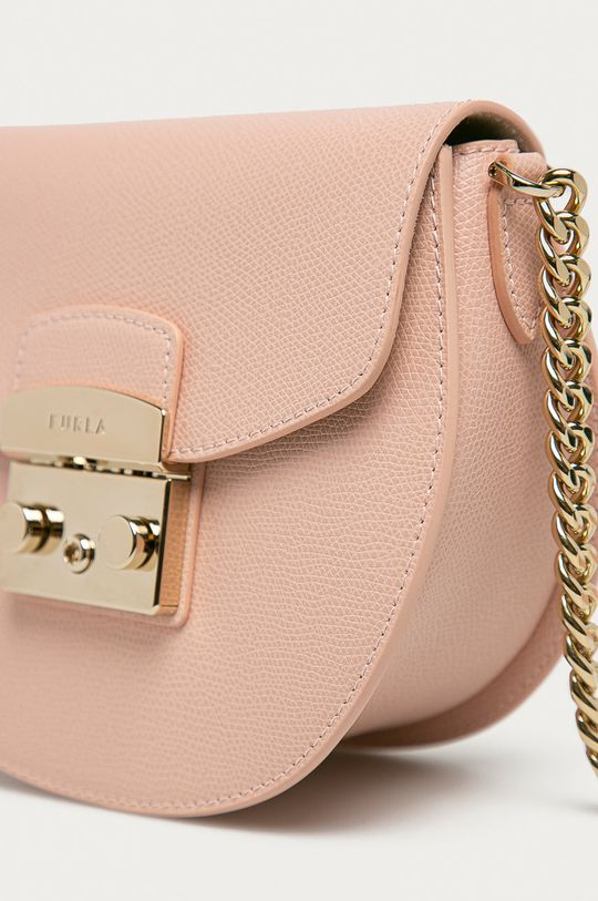 Furla - Kožená kabelka Metropolis růžová