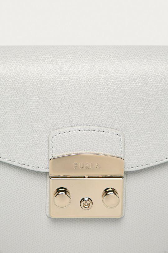 Furla - Kožená kabelka Metropolis Mini světle šedá