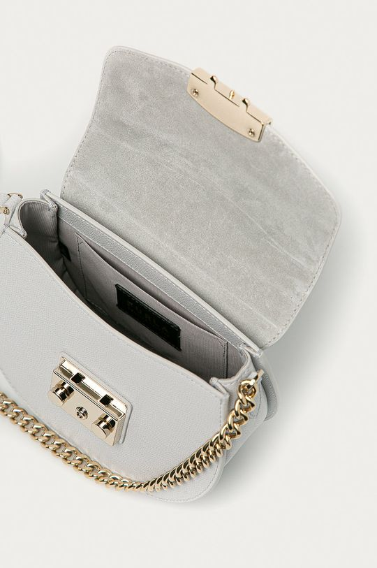 světle šedá Furla - Kožená kabelka Metropolis Mini