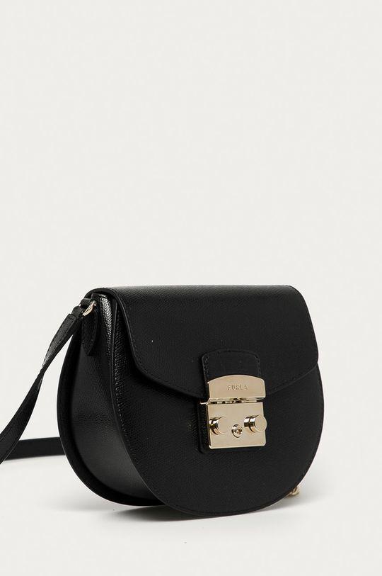 Furla - Kožená kabelka Metropolis čierna