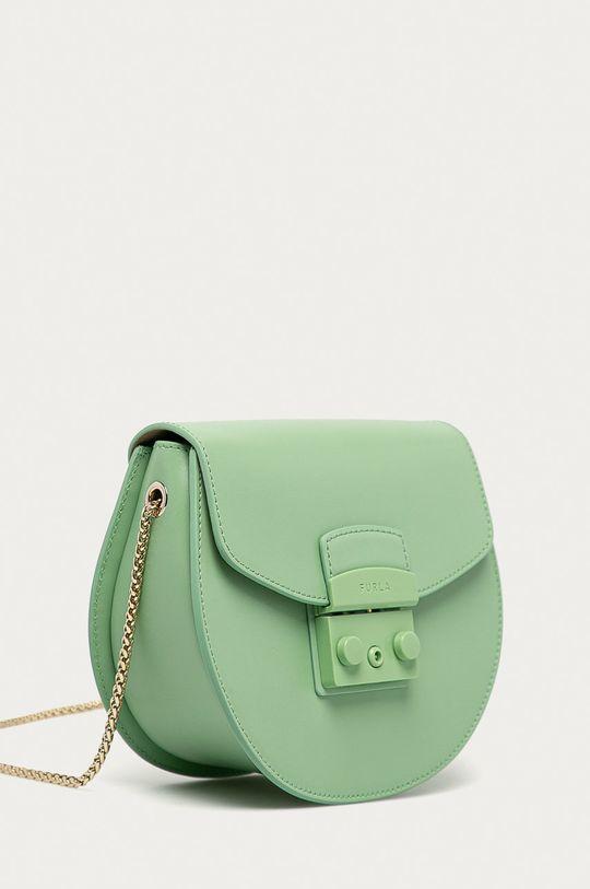 Furla - Kožená kabelka Metropolis Mini světle zelená