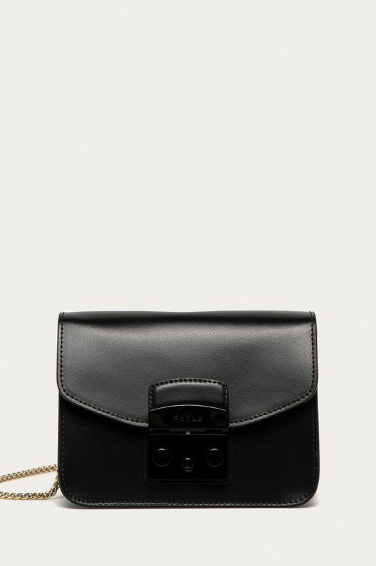 čierna Furla - Kožená kabelka Metropolis Mini Dámsky
