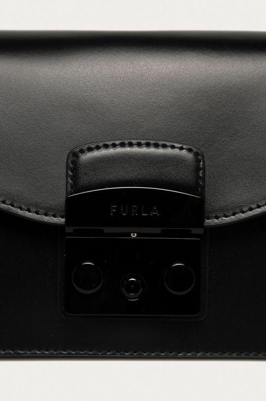 Furla - Kožená kabelka Metropolis Mini čierna