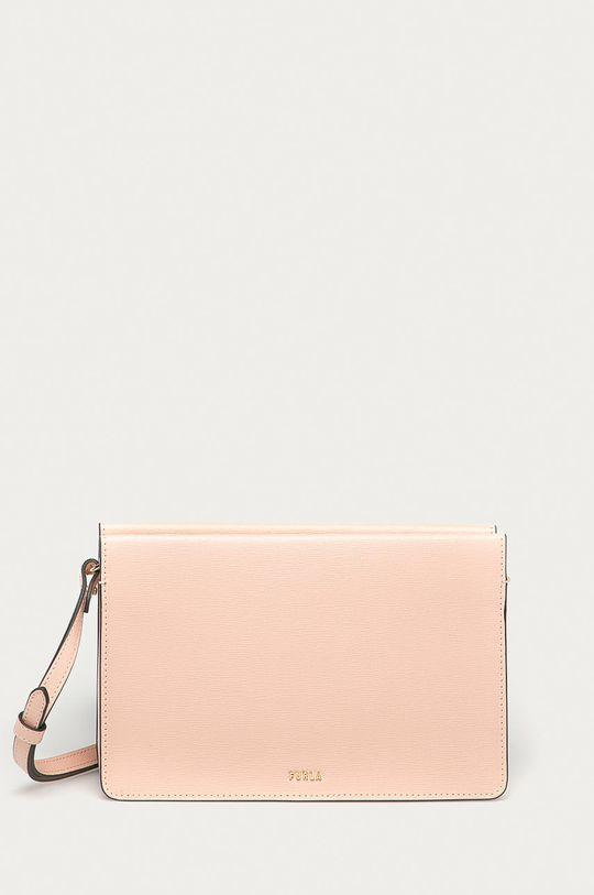 růžová Furla - Kožená kabelka Babylon Mini Dámský