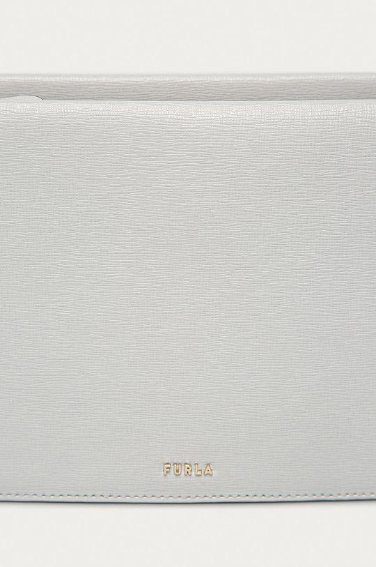 Furla - Kožená kabelka Babylon Mini světle šedá