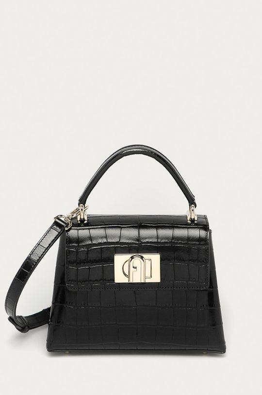 černá Furla - Kožená kabelka 1927 Mini Dámský