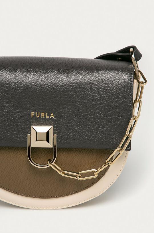 Furla - Kožená kabelka Miss Mimi sivá