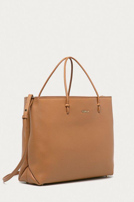 Furla - Kožená kabelka Essential béžová