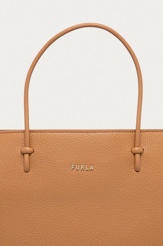 béžová Furla - Kožená kabelka Essential