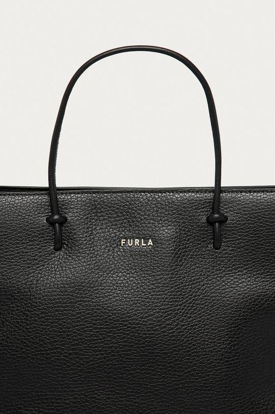 czarny Furla - Torebka skórzana Essential
