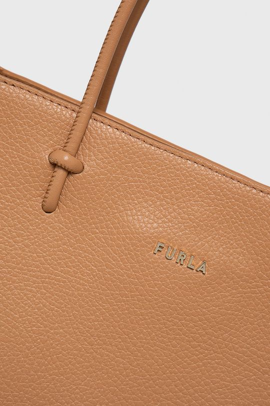 Furla - Kožená kabelka Essential hnědá