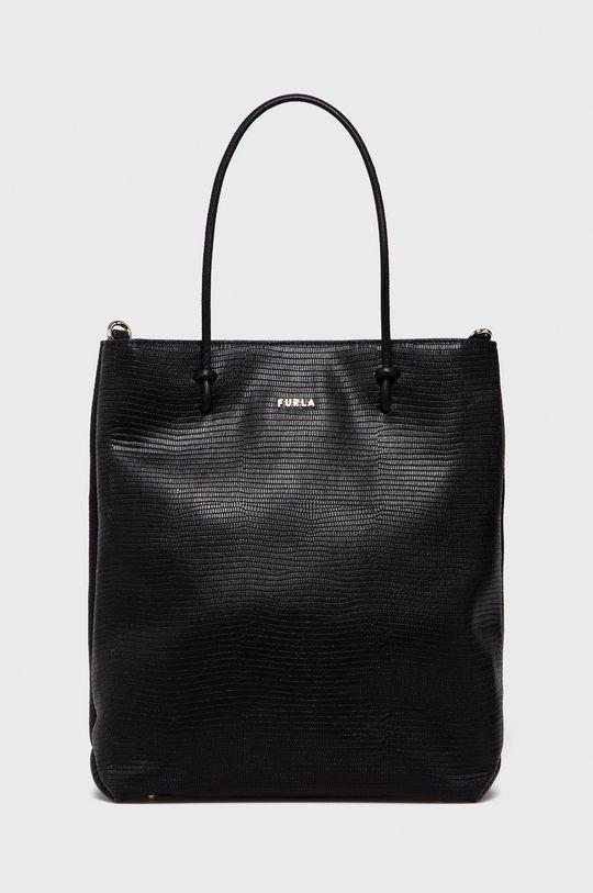 černá Furla - Kožená kabelka Essential Dámský