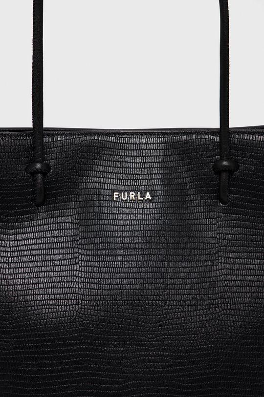 Furla - Kožená kabelka Essential černá