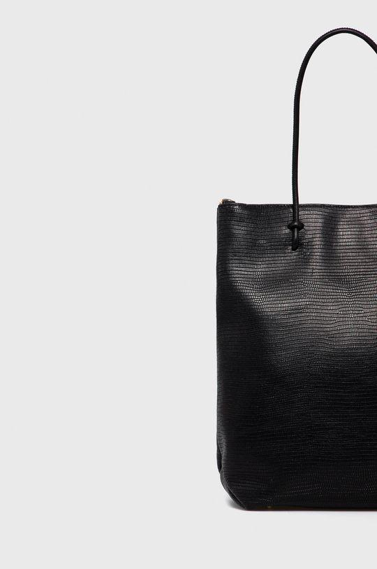 černá Furla - Kožená kabelka Essential