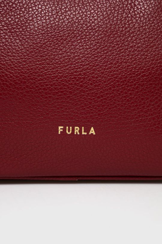 Furla - Kožená kabelka Real kaštanová