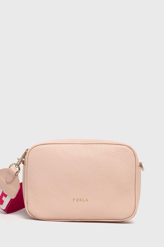 růžová Furla - Kožená kabelka Dámský