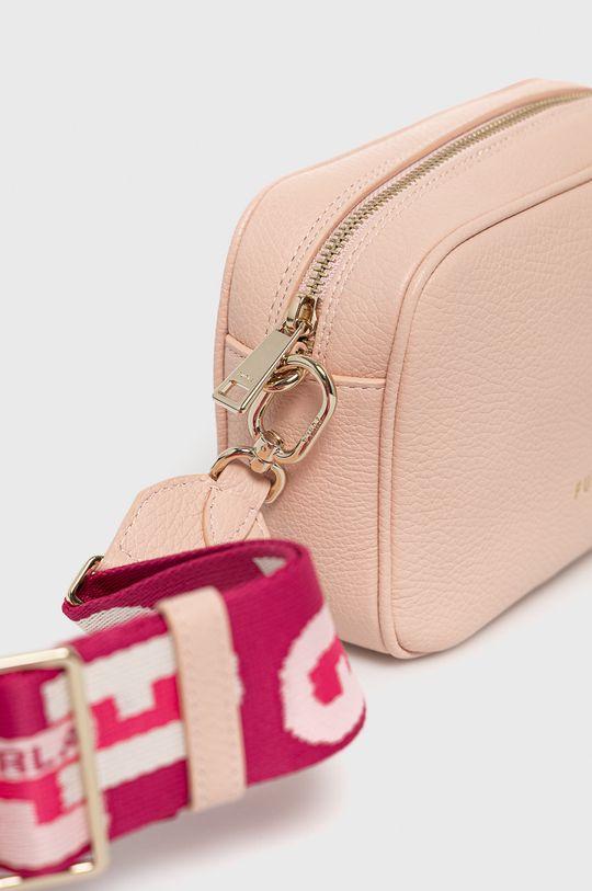 růžová Furla - Kožená kabelka