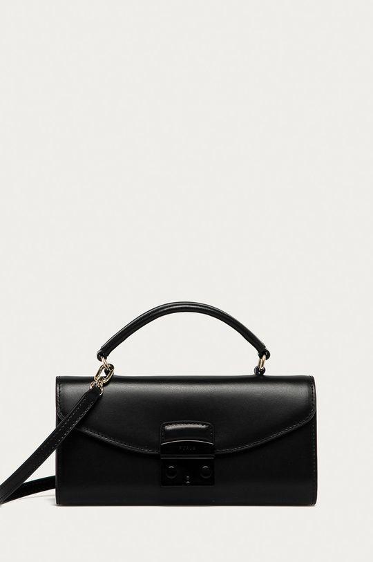 černá Furla - Kožená kabelka Metropolis Mini Dámský