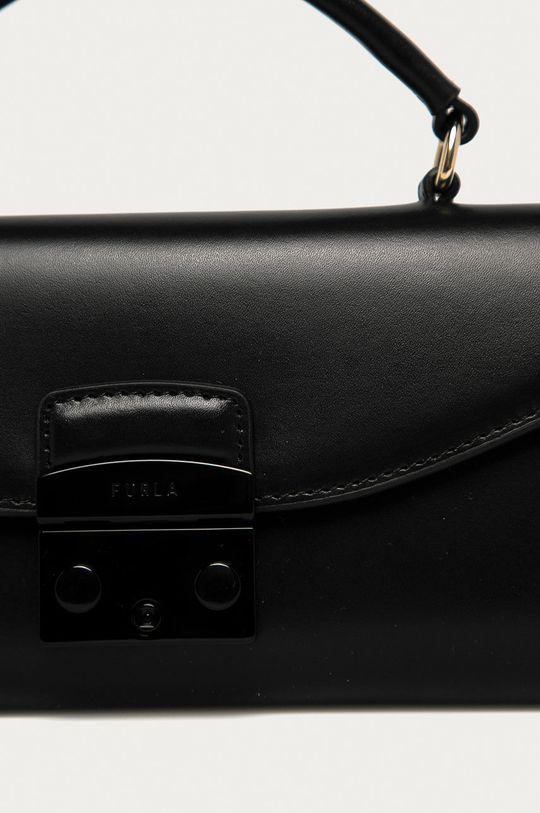 Furla - Kožená kabelka Metropolis Mini černá