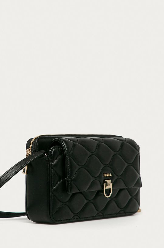 Furla - Kožená kabelka Mimi Mini černá