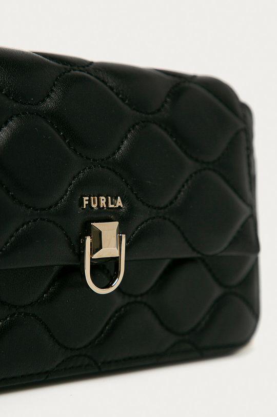 černá Furla - Kožená kabelka Mimi Mini