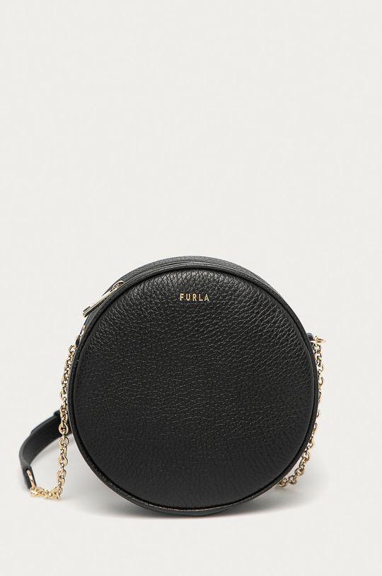 černá Furla - Kožená kabelka Real Dámský