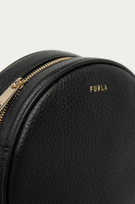 Furla - Kožená kabelka Real černá