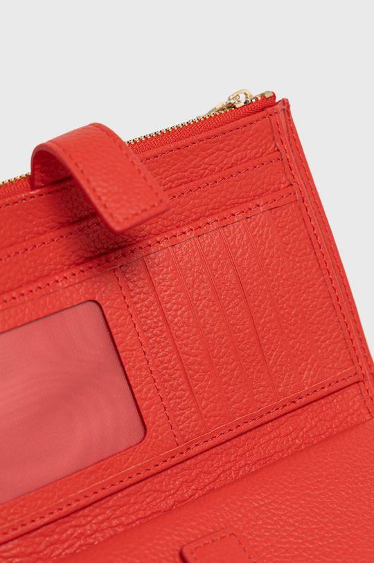 červená Patrizia Pepe - Kožená listová kabelka