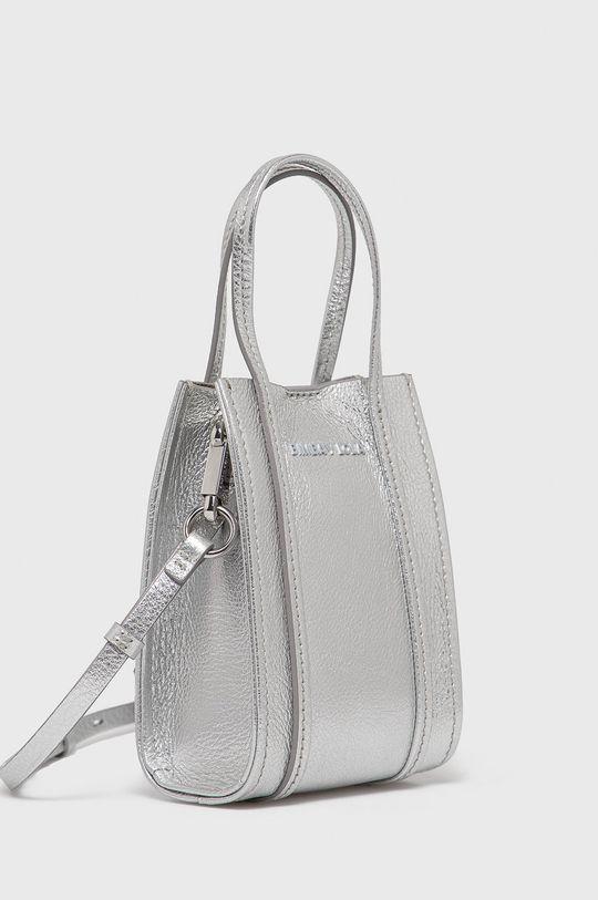 BIMBA Y LOLA - Kožená kabelka stříbrná