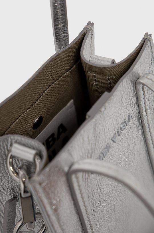 stříbrná BIMBA Y LOLA - Kožená kabelka