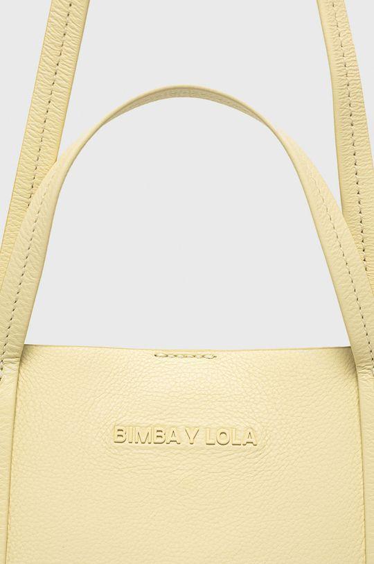 BIMBA Y LOLA - Kožená kabelka žlutá