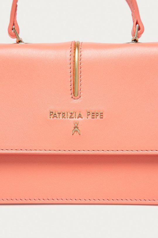 růžová Patrizia Pepe - Kožená kabelka