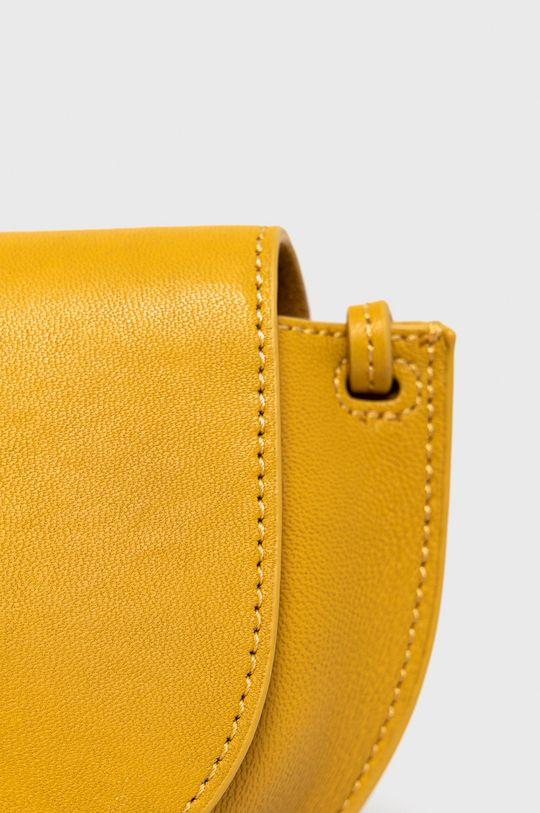 Marc O'Polo - Torebka skórzana żółty