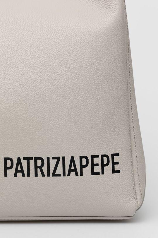 Patrizia Pepe - Torebka skórzana jasny szary