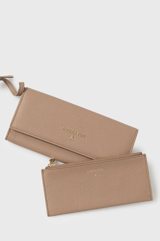 Patrizia Pepe - Bőr pénztárca homokszínű