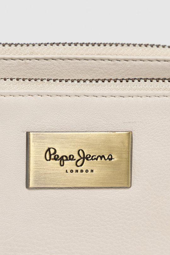 Pepe Jeans - Portfel skórzany kremowy