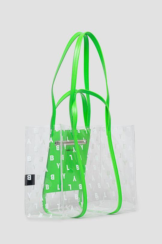 BIMBA Y LOLA - Kabelka ostrá zelená