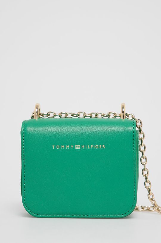 zelená Tommy Hilfiger - Kožená kabelka