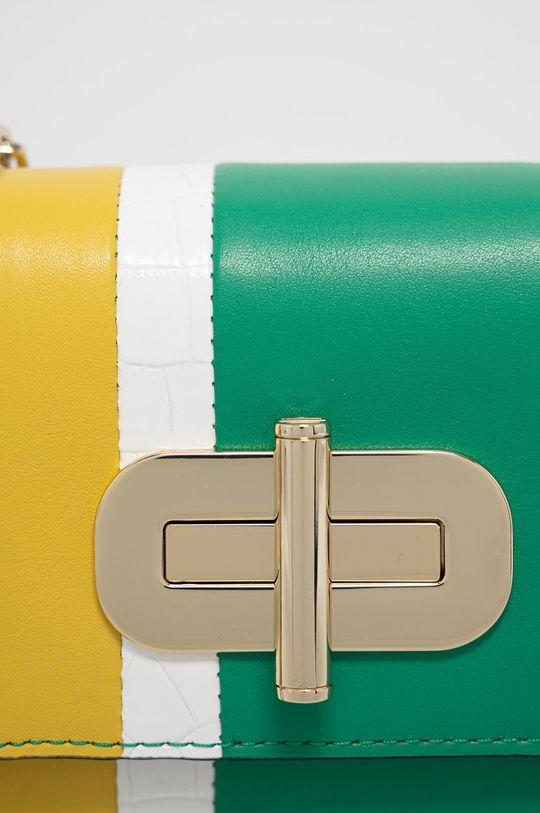 Tommy Hilfiger - Kožená kabelka zelená