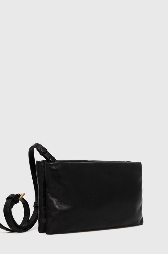 AllSaints - Kožená kabelka černá