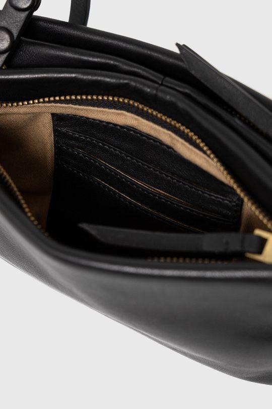 černá AllSaints - Kožená kabelka