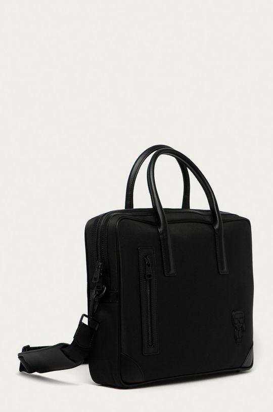 Karl Lagerfeld - Torba Materiał tekstylny, Skóra naturalna